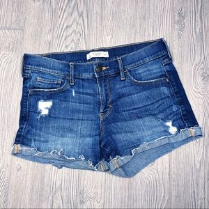 Abercrombie distressed denim cut off shorts 4/27